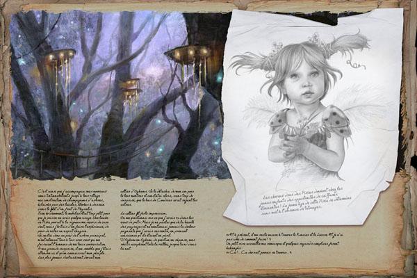 Oghams le temps des elfes ( tome 1)/ Les portes d'or (tome 2) Krystal Camprubi  Planche_Oghams_2