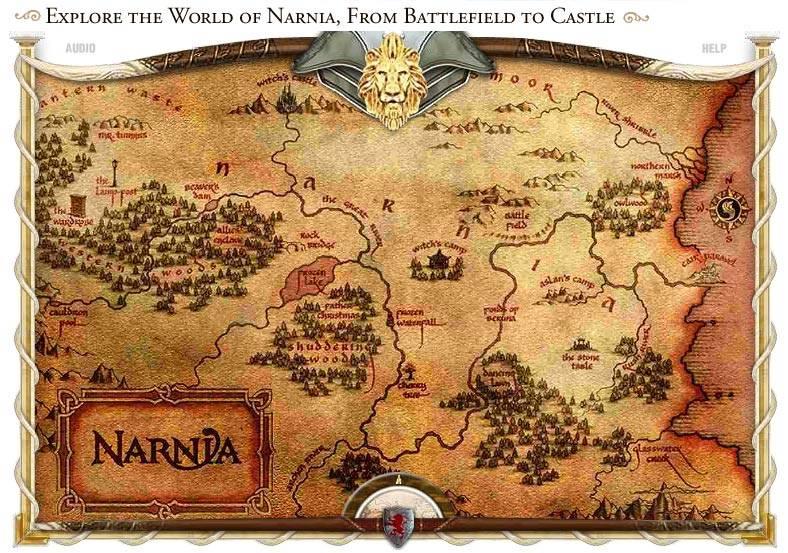 Карта волшебной страны Нарния