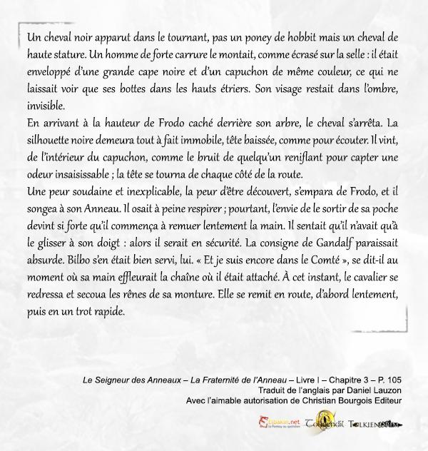 Gut bekannt Extraits de la nouvelle traduction du Seigneur des Anneaux  NF78