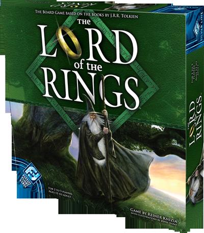 Le Seigneur des Anneaux de Reiner Knizia (Tilsit, Hasbro) illustré par John Howe Lotr-silverline-3d-box-right
